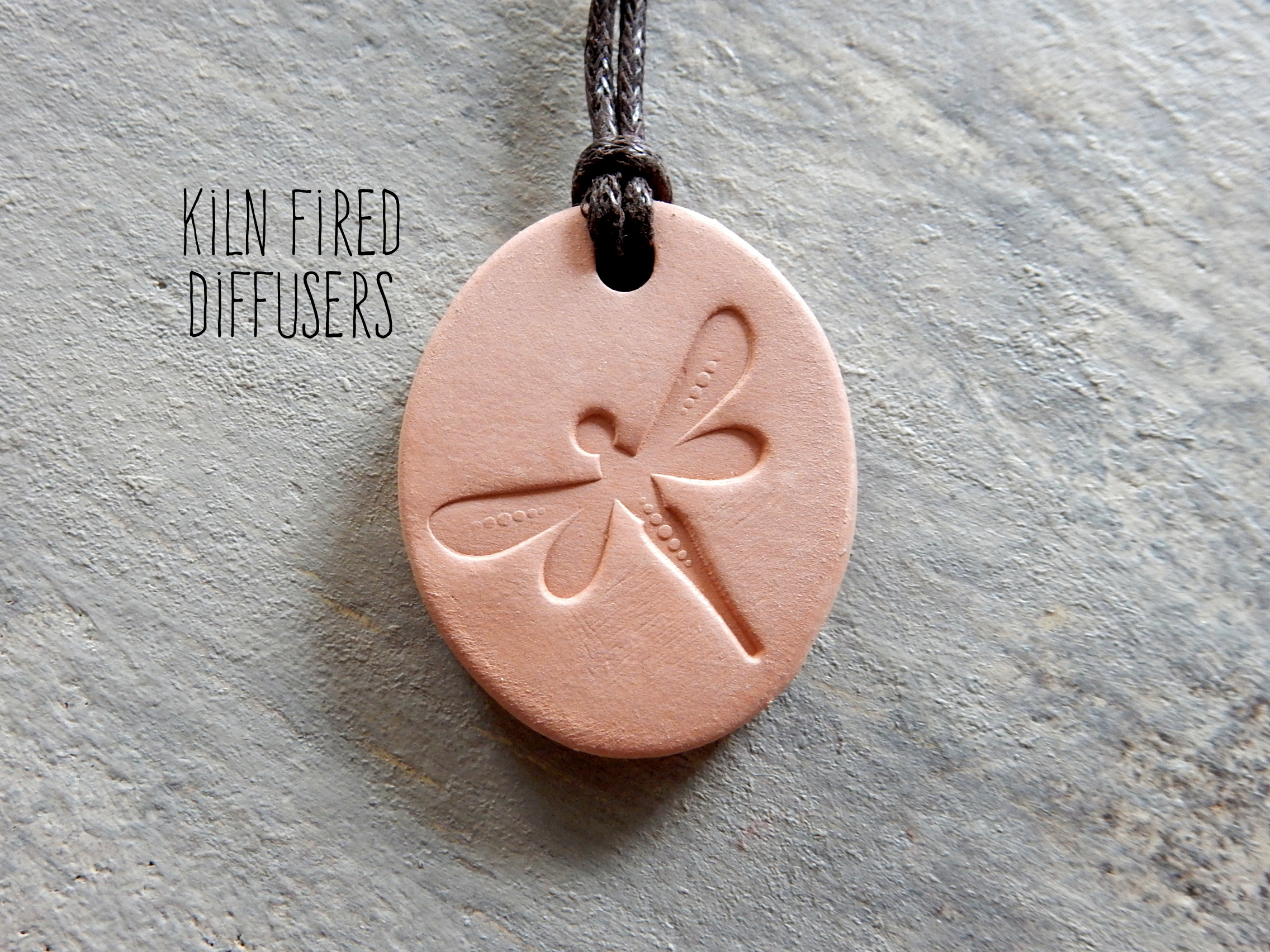 Dragonfly Clay Diffuser Pendant Kiln Fired Diffusers